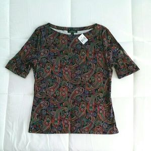 NWT Lauren by Ralph Lauren cotton shirt